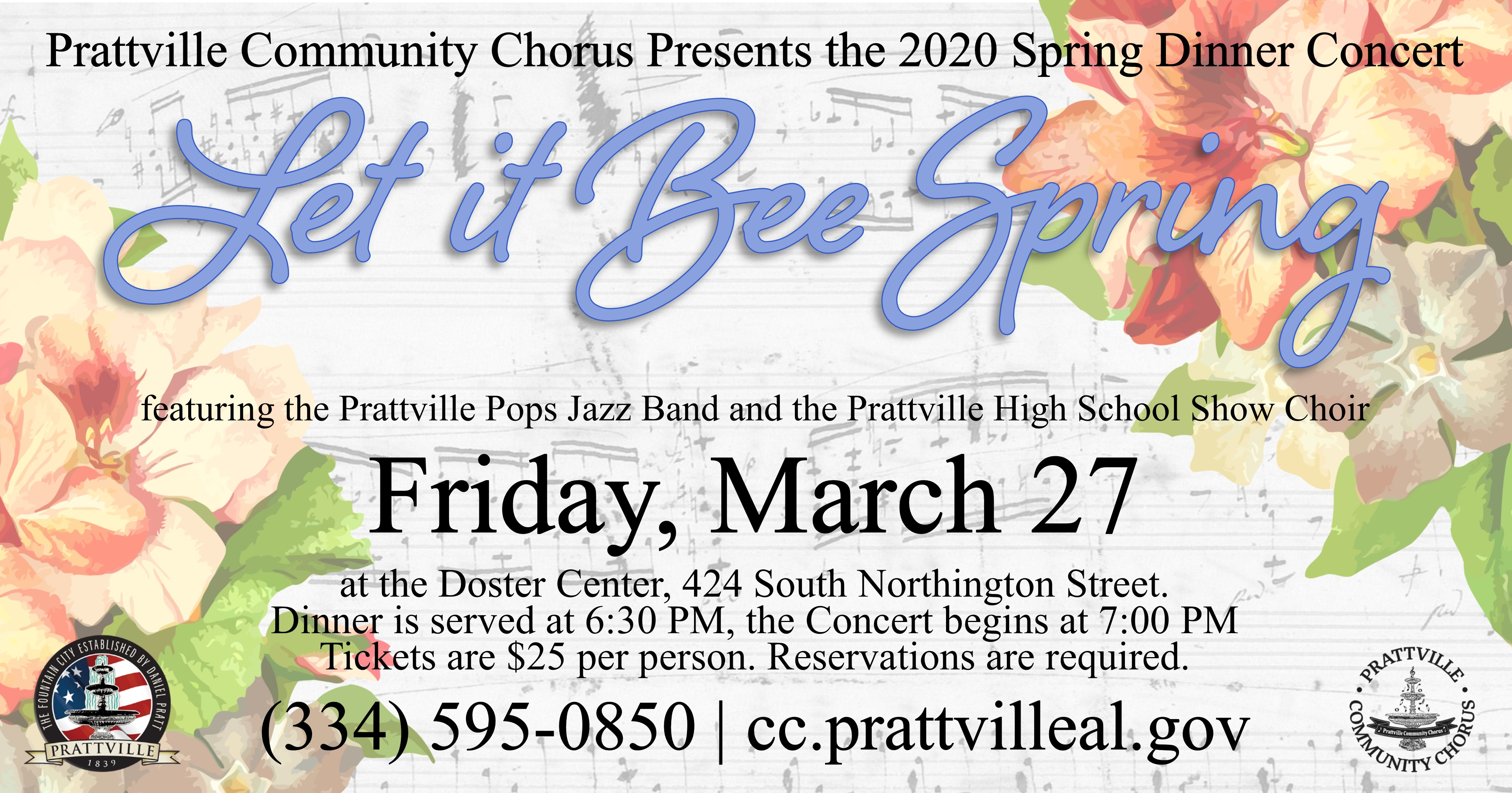 Chorus Spring Concert Event Banner
