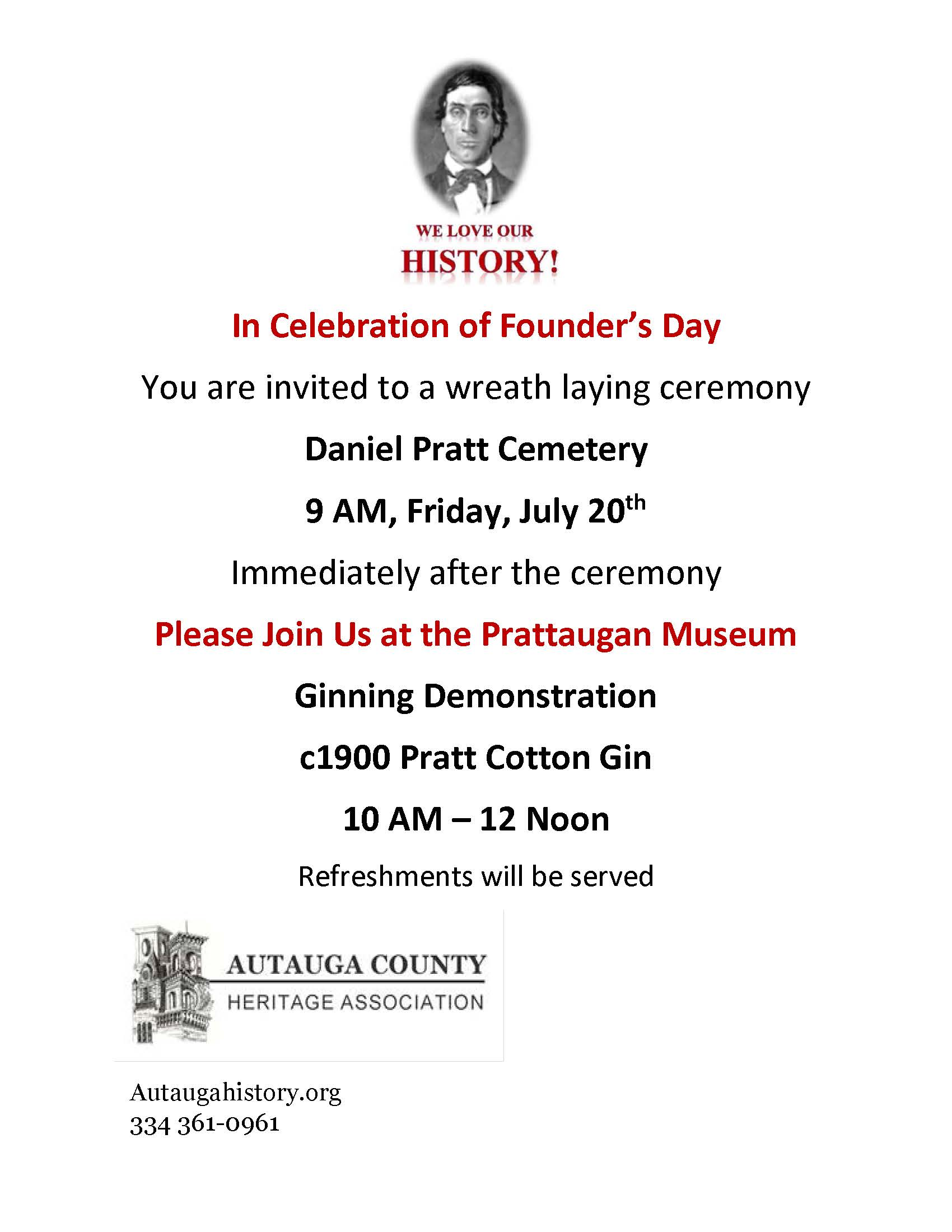Founders Day 2018 flyer and invitation 2