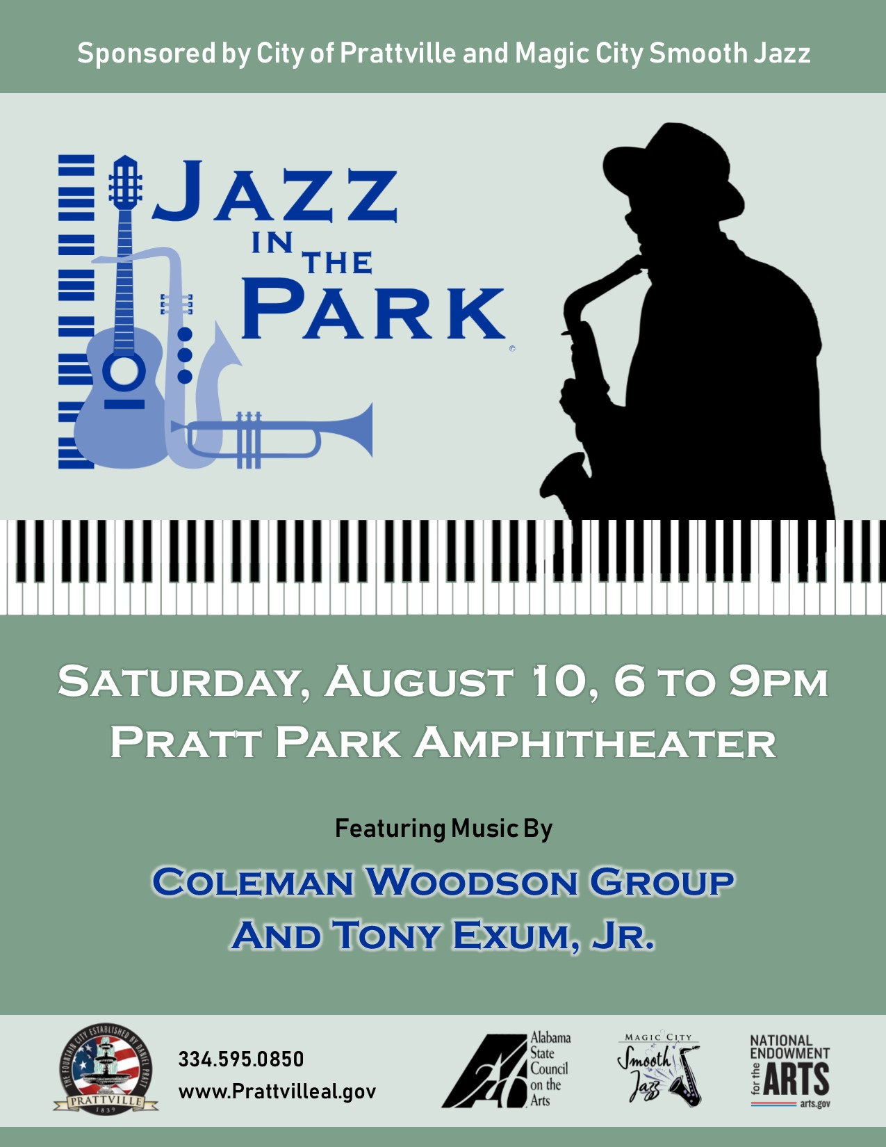 Jazz in the Park Flyer