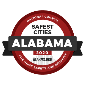 alarms.org safest cities 2020 alabama