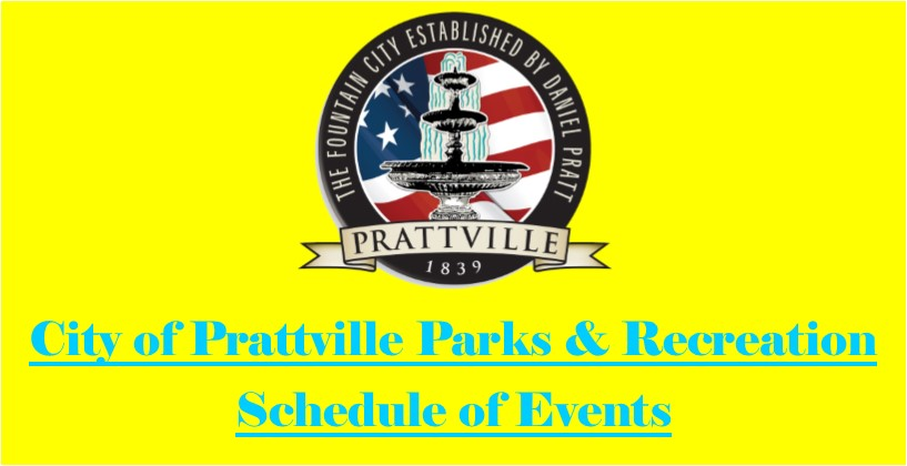 Parks and Recreation Schedule of Events Block