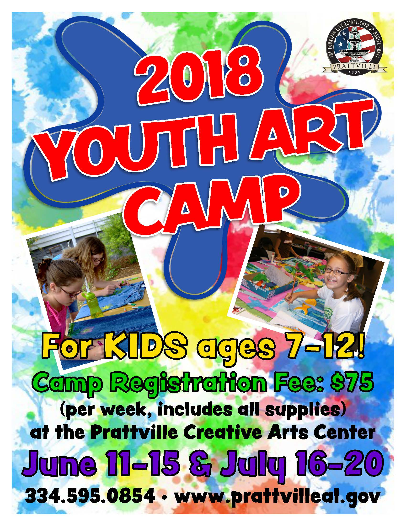 2018 Youth Art Camp Page 1